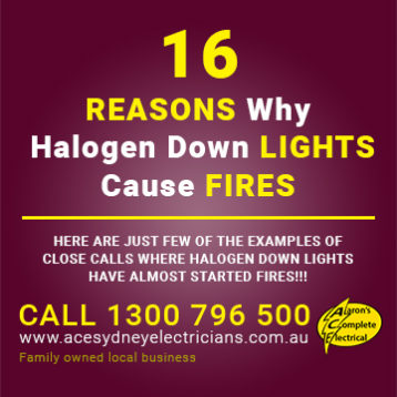 Reasons Why Halogen Down Lights Cause Fires